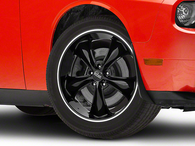 Foose Legend Black Wheel; 20x8.5 (08-21 All, Excluding AWD)