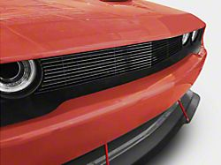 Modern Billet Upper Billet Grille Overlay; Black (15-20 All)