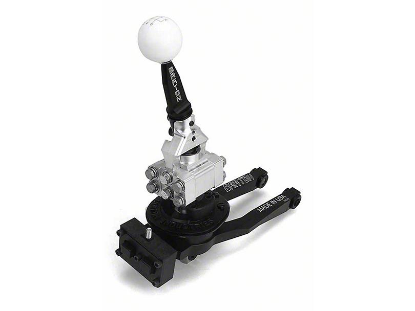 Barton Short Throw Shifter w/ Black Stick & White Shift Knob - TR-6060 (09-20 V8 HEMI)