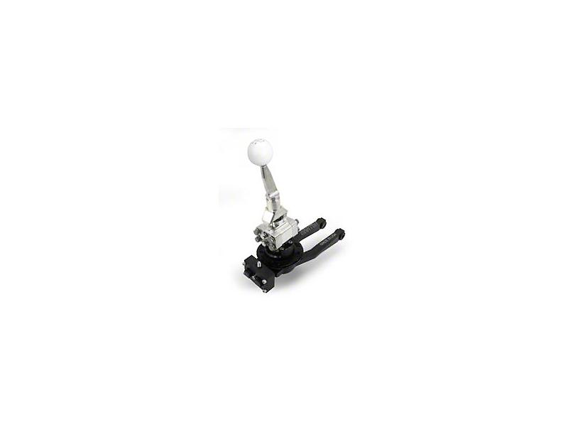 Barton Short Throw Shifter with Brushed Aluminum Stick and White Shift Knob; TR-6060 (09-20 V8 HEMI)
