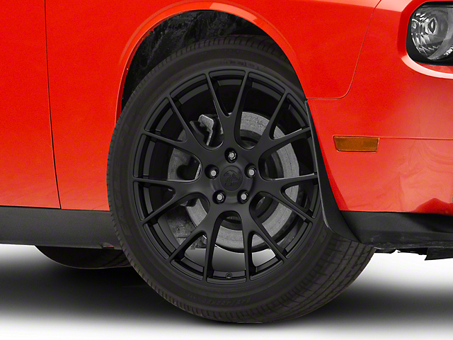 Hellcat Style Satin Black Wheel; 20x9 (08-21 All, Excluding AWD)