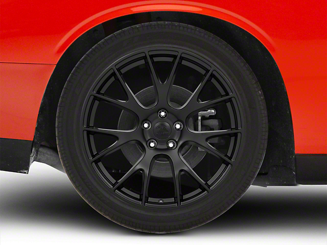 Hellcat Style Satin Black Wheel - 20x10 - Rear Only (08-20 All, Excluding AWD)