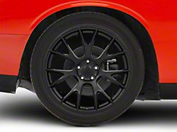Hellcat Style Satin Black Wheel; Rear Only; 20x10 (08-20 All, Excluding AWD)