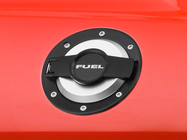 Scott Drake Fuel Door - Black (08-14 All)