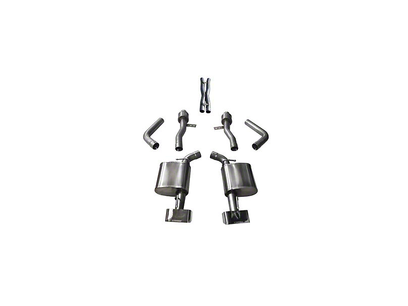Corsa Sport Cat-Back Exhaust with Polished Rectangular Tips (17-20 5.7L HEMI)