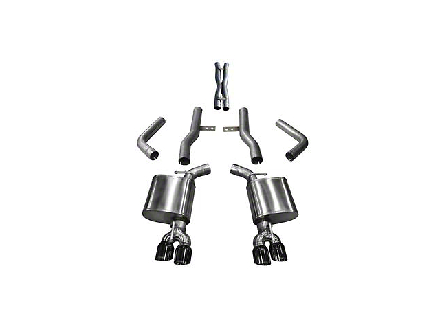 Corsa Xtreme Cat-Back Exhaust with Twin Black Round Tips (17-20 5.7L HEMI)