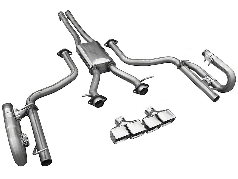 Solo Performance MACH XV Cat-Back Exhaust w/ Square Tips (15-19 3.6L)