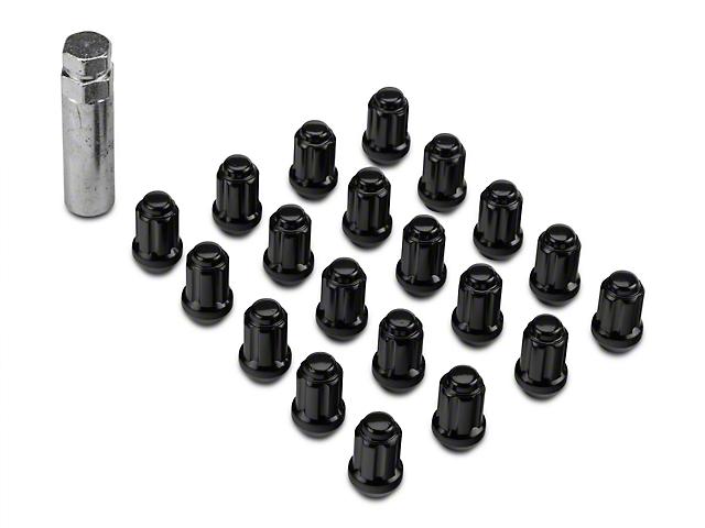Black 6 Spline Nut Kit - 14mm x 1.50 (08-20 All)