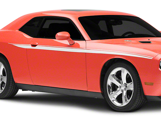 American Muscle Graphics Side Stripes; White (08-20 All)