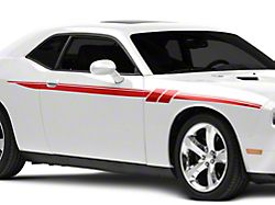 American Muscle Graphics Side Stripes with Hash Marks; Red (08-20 All)