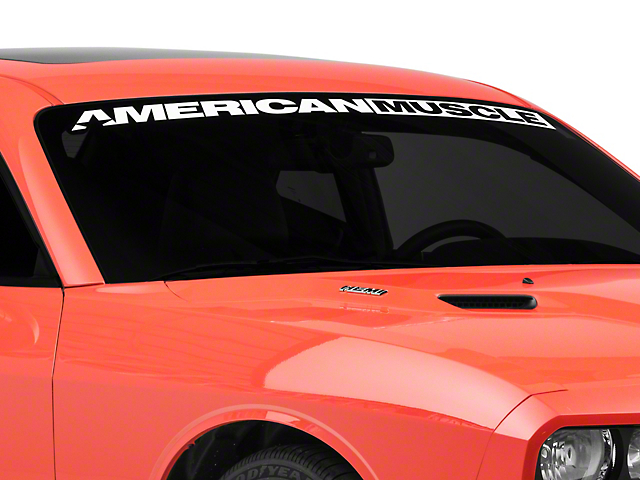 SEC10 AmericanMuscle Windshield Banner; White (08-21 All)
