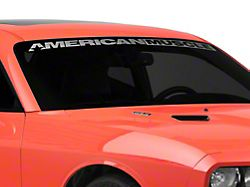 SEC10 AmericanMuscle Windshield Banner; Frosted (08-21 All)