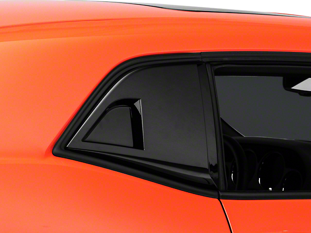 MP Concepts Quarter Window Scoops; Gloss Black (08-21 All)