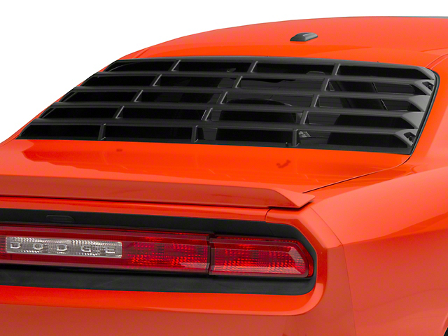 MP Concepts Rear Window Louvers; Matte Black (08-20 All)