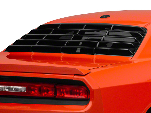MP Concepts Rear Window Louvers; Gloss Black (08-20 All)
