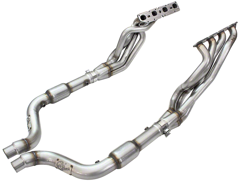 AFE 1-7/8 in. Twisted Steel Catted Long Tube Headers - Street Series (09-19 5.7L HEMI)
