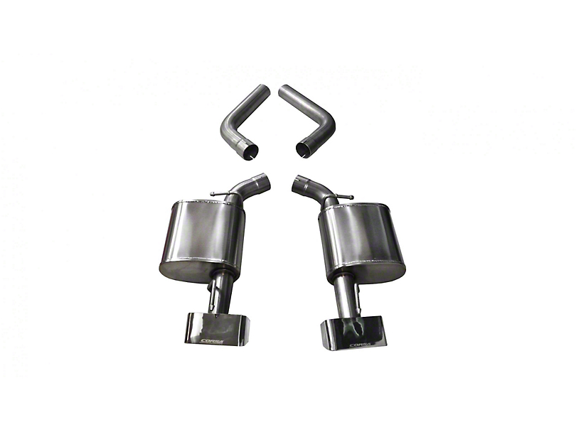 Corsa Sport Axle-Back Exhaust with Polished Rectangular Tips (15-20 Hellcat)