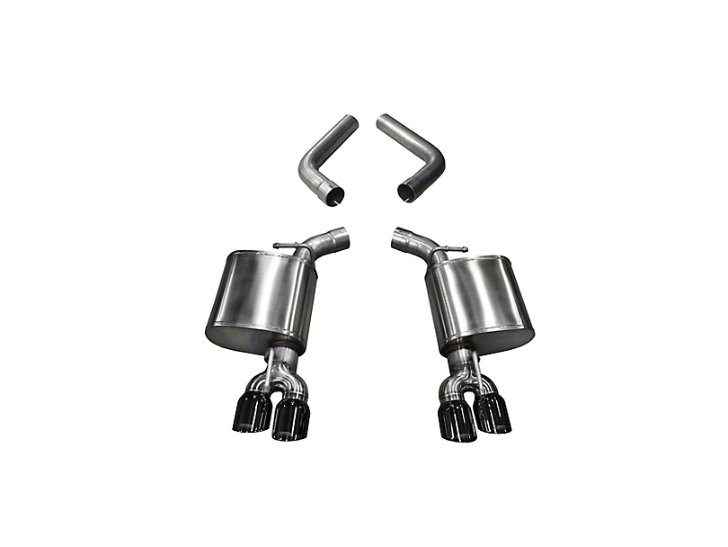 Corsa Sport Axle-Back Exhaust w/ Twin Black Round Tips (15-20 Hellcat)