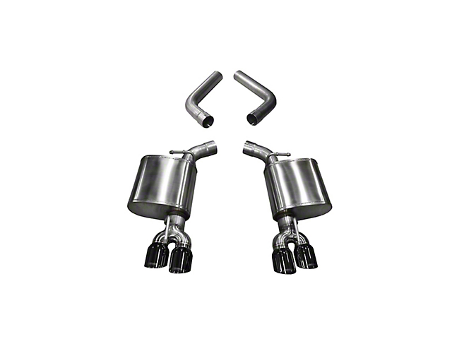 Corsa Sport Axle-Back Exhaust with Twin Black Round Tips (15-20 Hellcat)