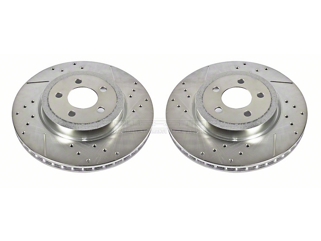 Power Stop Evolution Cross-Drilled & Slotted Rotors - Front Pair (09-20 GT, R/T, T/A; 11-20 SE, SXT w/ Dual Piston Front Calipers)