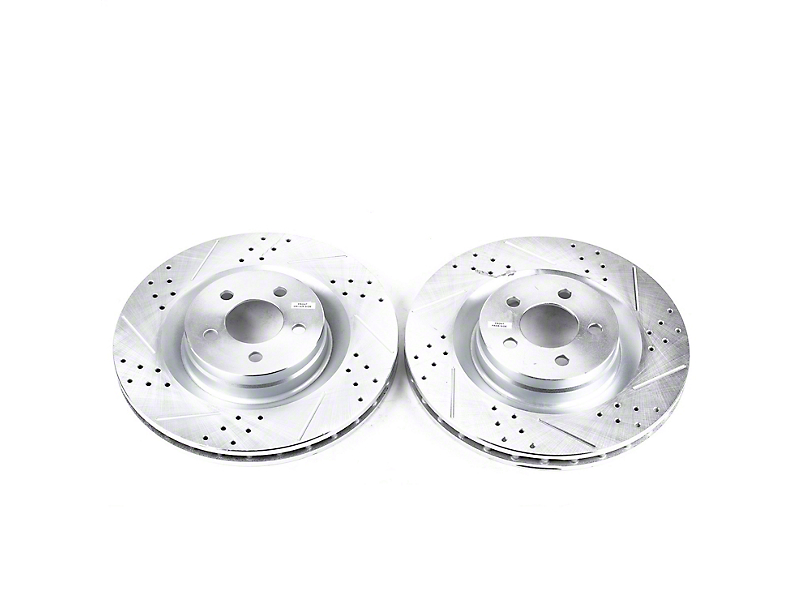 Power Stop Evolution Cross-Drilled & Slotted Rotors - Front Pair (08-14 SRT8; 15-16 Scat Pack; 2017 R/T 392; 18-20 w/ 4-Piston Front Calipers)