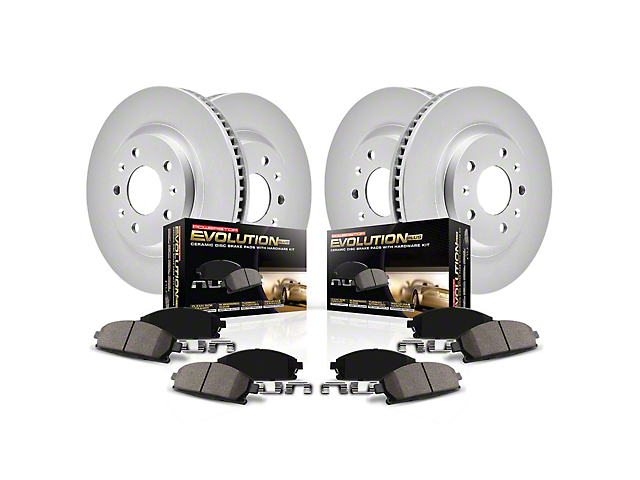 Power Stop Z17 Evolution Plus Brake Rotor and Pad Kit; Front and Rear (09-20 GT, R/T, T/A; 11-20 SE, SXT w/ Dual Piston Front Calipers)