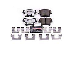 Power Stop Z26 Extreme Street Carbon-Ceramic Brake Pads; Rear Pair (06-14 w/ Single or Dual Piston Front Caliper & 12.60-Inch Vented Rear Rotors; 15-17 Daytona, R/T, SE, SXT; 18-21 w/ Single or Dual Piston Front Caliper)