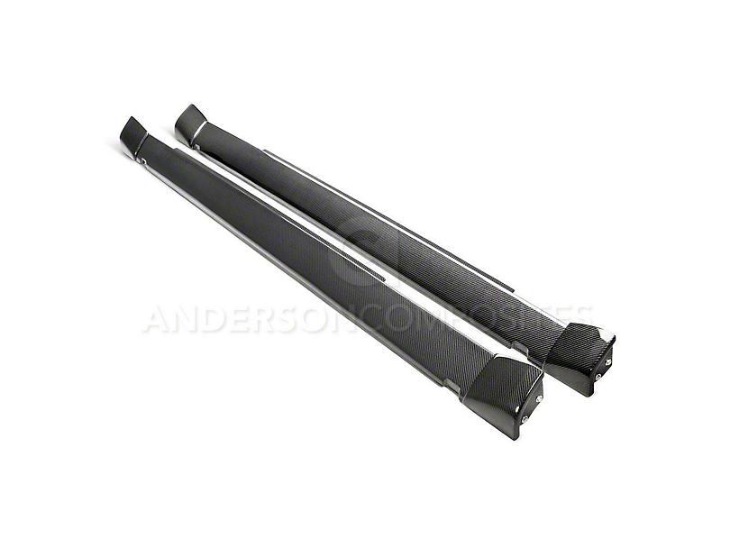Anderson Composites Type-WB Rocker Panels - Carbon Fiber (18-20 Demon, Hellcat Widebody)