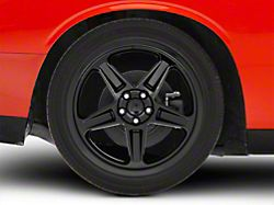 SRT Demon Style Gloss Black Wheel; Rear Only; 20x10.5 (08-20 All, Excluding AWD & Demon)