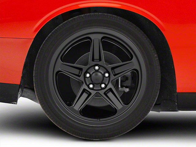SRT Demon Style Satin Black Wheel; Rear Only; 20x10.5 (08-20 All, Excluding AWD & Demon)