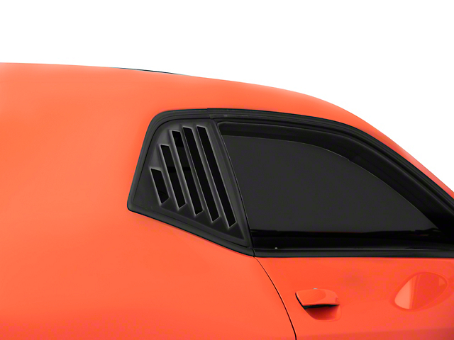 SpeedForm Quarter Window Louvers; Matte Black (08-21 All)