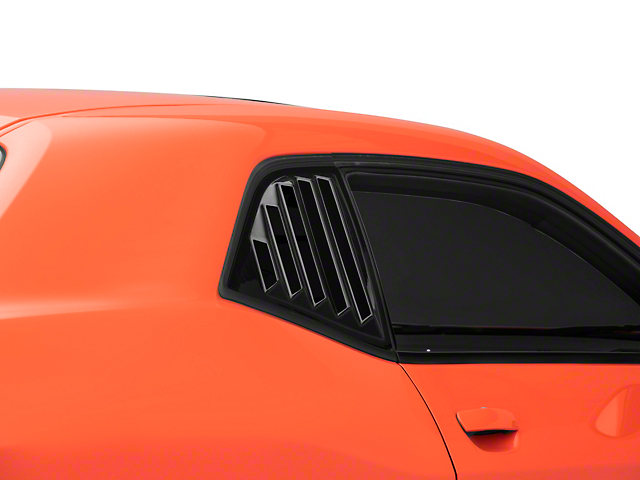 SpeedForm Quarter Window Louvers; Gloss Black (08-21 All)