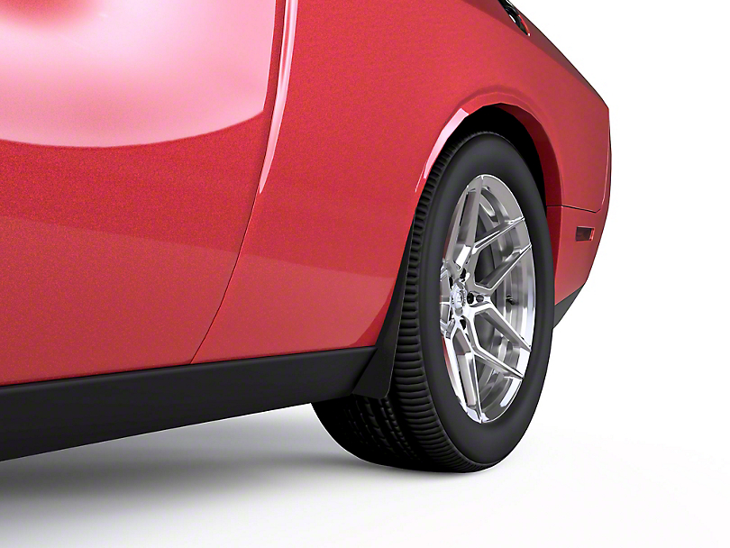 Rear Mud Flaps - Textured Black (15-20 All, Excluding Widebody)