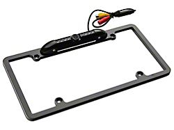 License Plate Camera with Dynmaic Parking Lines; Black (08-10 All)