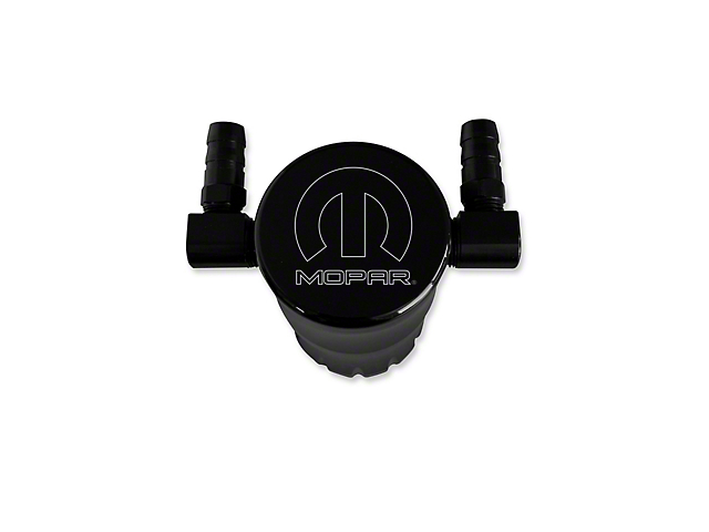 American Brothers Design Black Oil Catch Can with Mopar Logo (15-20 Hellcat)