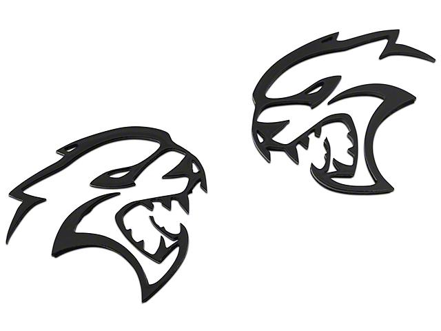 American Brothers Design Hellcat Cutout Badge; Black