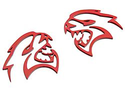 American Brothers Design Hellcat Cutout Badge; Red