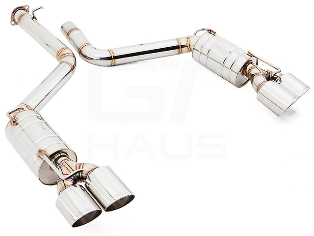 American Roar Super Racing Series GTS Stainless Axle-Back Exhaust with Quad Polished Tips (11-14 6.4L HEMI)