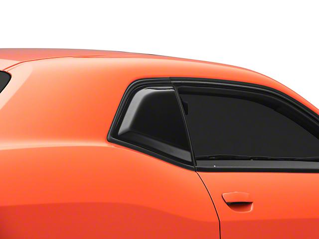 SpeedForm Quarter Window Scoops; Gloss Black (08-20 All)