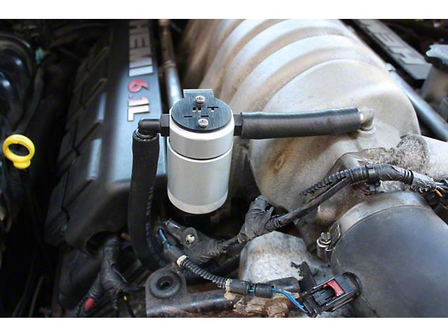 JLT V3.0 Satin Oil Separator; Passenger Side (08-10 6.1L HEMI)