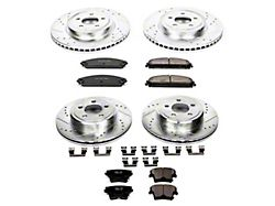 Power Stop Z23 Evolution Sport Brake Rotor and Pad Kit; Front and Rear (06-14 w/ Dual Piston Front Caliper; 15-17 Daytona, R/T, SE AWD, SXT AWD; 18-21 w/ Dual Piston Front Caliper)