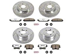 Power Stop Z26 Street Warrior Brake Rotor and Pad Kit; Front and Rear (09-20 GT, R/T, T/A; 11-20 SE, SXT w/ Dual Piston Front Calipers)