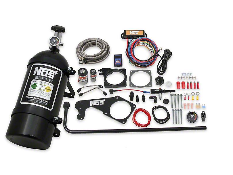 NOS Plate Wet Nitrous System; Black Bottle (08-10 6.1L HEMI; 09-20 5.7L HEMI)