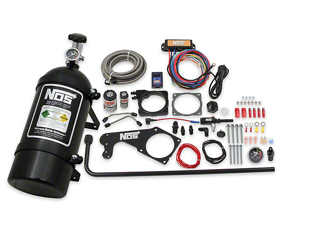 NOS Plate Wet Nitrous System; Black Bottle (06-10 6.1L HEMI; 09-21 5.7L HEMI)