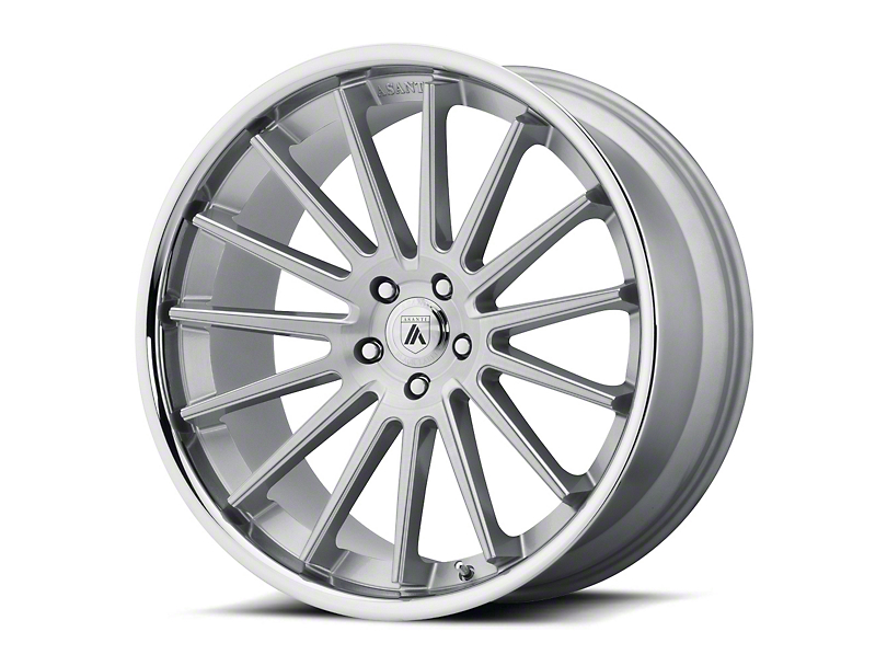 Asanti Beta Brushed Silver with Chrome Lip Wheel; 20x9 (08-20 All, Excluding AWD)