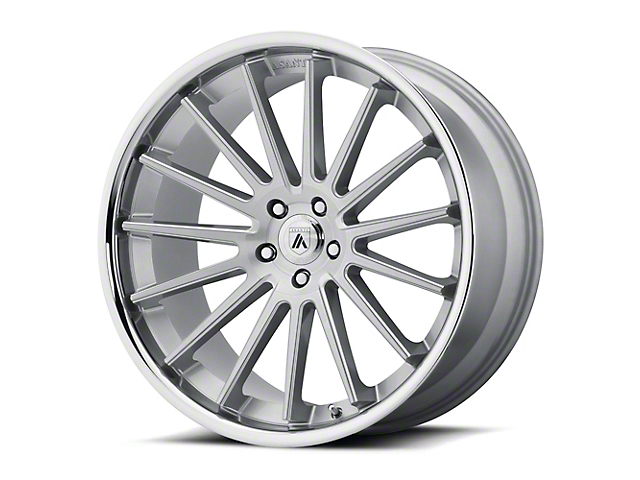 Asanti Beta Brushed Silver with Chrome Lip Wheel; Rear Only; 20x10.5 (08-21 All, Excluding AWD & Demon)