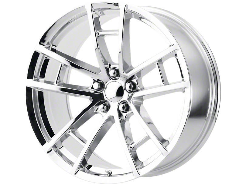 Drag Pack Style Chrome Wheel; 20x9 (08-20 All, Excluding AWD)