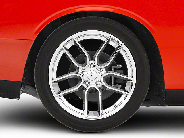 Hellcat Redeye Style Chrome Wheel; Rear Only; 20x10.5 (08-20 All, Excluding AWD & Demon)