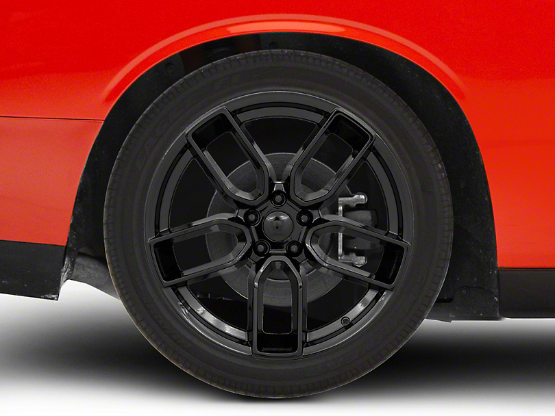 Hellcat Redeye Style Gloss Black Wheel; Rear Only; 20x10.5 (08-20 All, Excluding AWD & Demon)
