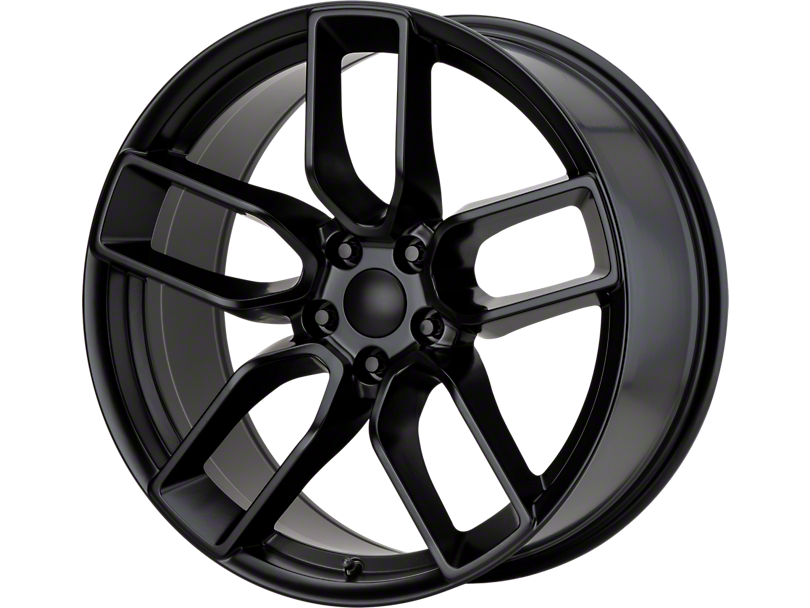 Hellcat Redeye Style Satin Black Wheel; Rear Only; 20x10.5 (08-20 All, Excluding AWD & Demon)
